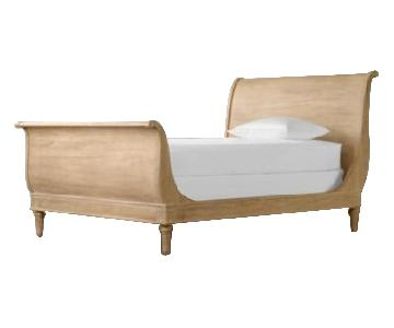 Restoration Hardware Born Emilia Sleigh Full Bed
