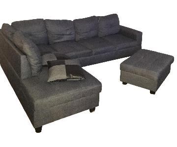 Beverly Furniture Benjamin Sectional Sofa & Ottoman