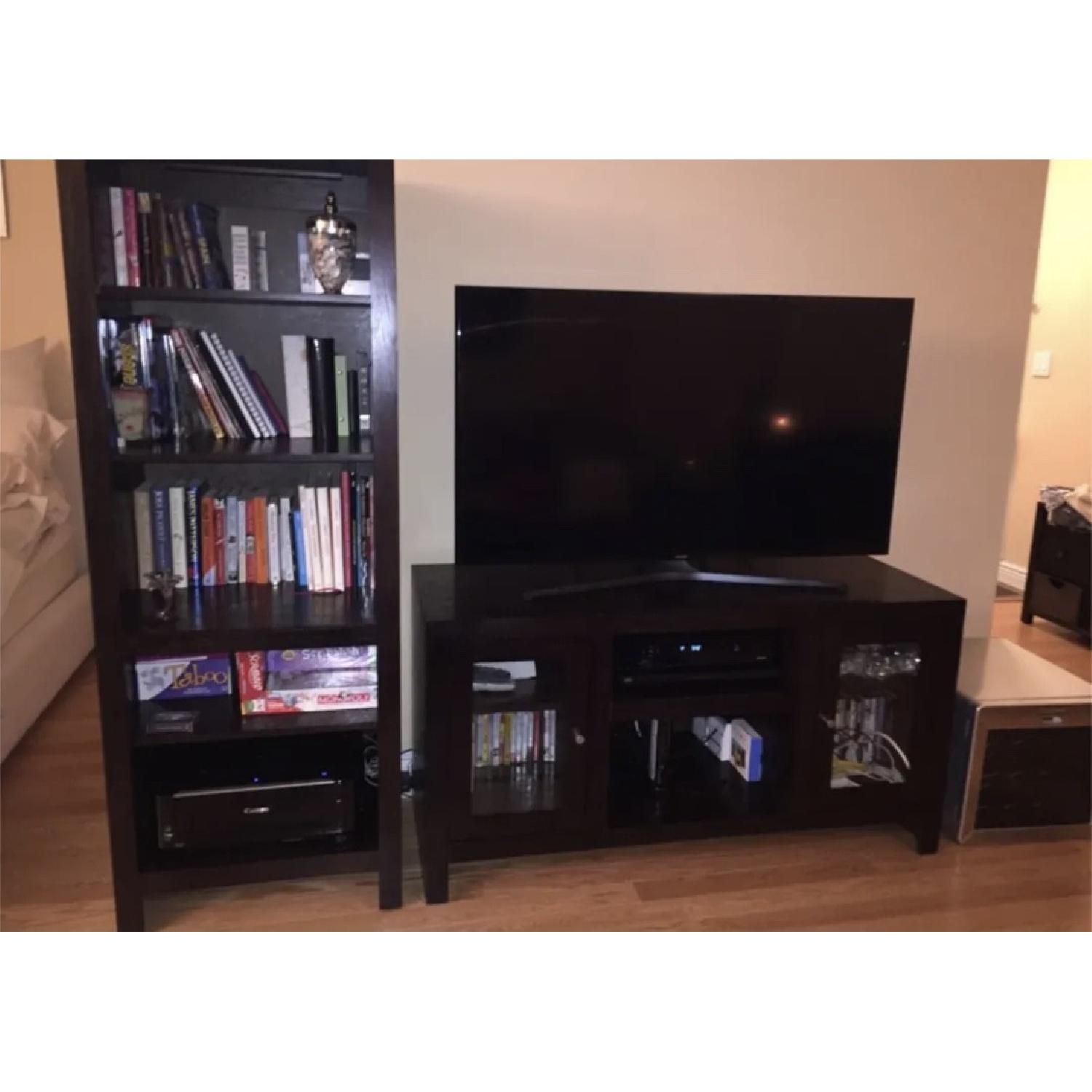 Modern Dark Wood Bookshelf 0