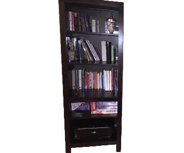 Modern Dark Wood Bookshelf