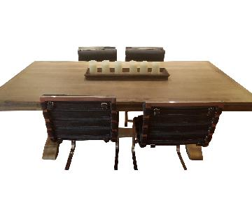 Pier 1 Dining Table w/ 6 Restoration Hardware Chairs