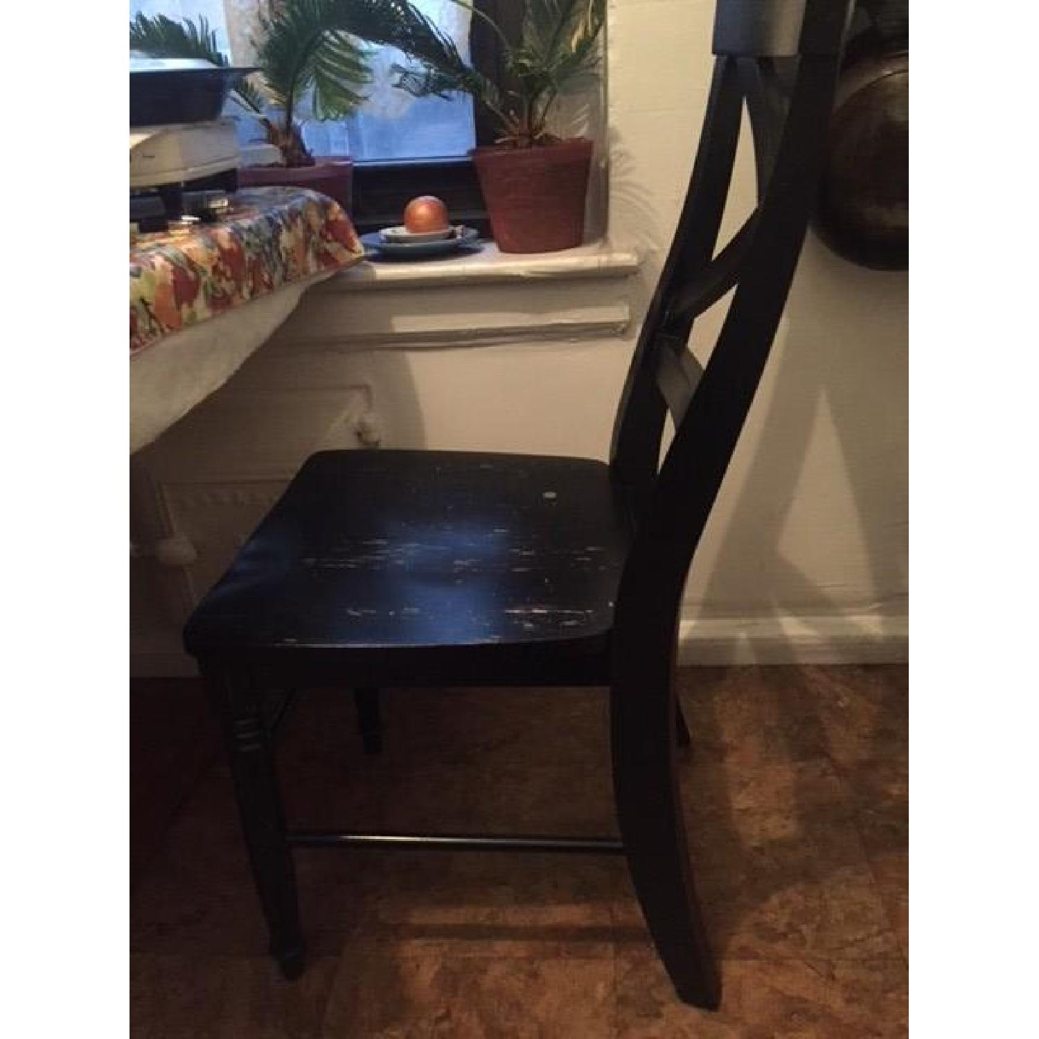 ... Target Rustic Black Wood Kitchen Chairs 0 ...