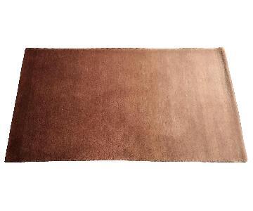 West Elm Rust Orange Ombre Wool Rug