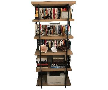 West Elm Wood & Metal Bookcase