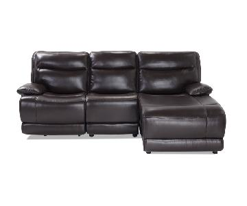Bob's Faux Leather Power Recliner Sectional Sofa