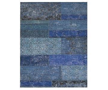West Elm Cadiz Rug in Blue/Dark Blue