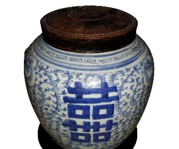 Jia Jing Period Chinese Blue & White Porcelain Jar