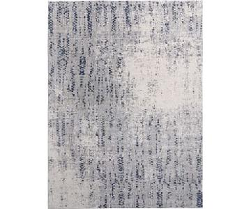 West Elm Distressed Foliage Rug in Moonstone