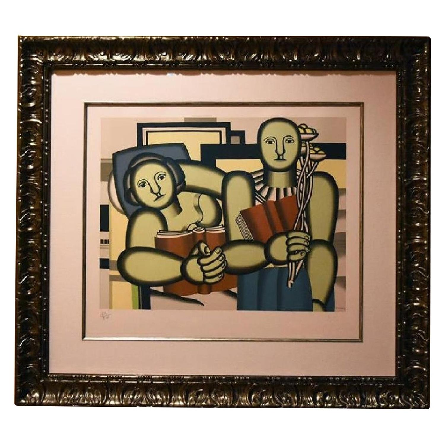 Fernand Leger La Lecture Limited Edition Signed Lithograph