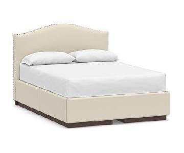 Pottery Barn Raleigh Curved Upholstered King Bed