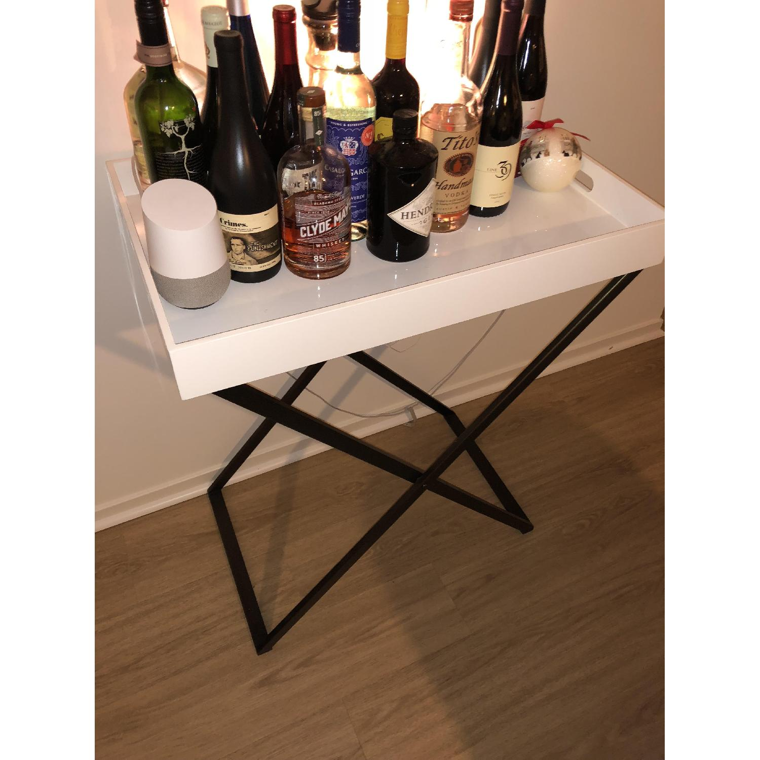 West Elm Butler Stand w/ White Tray