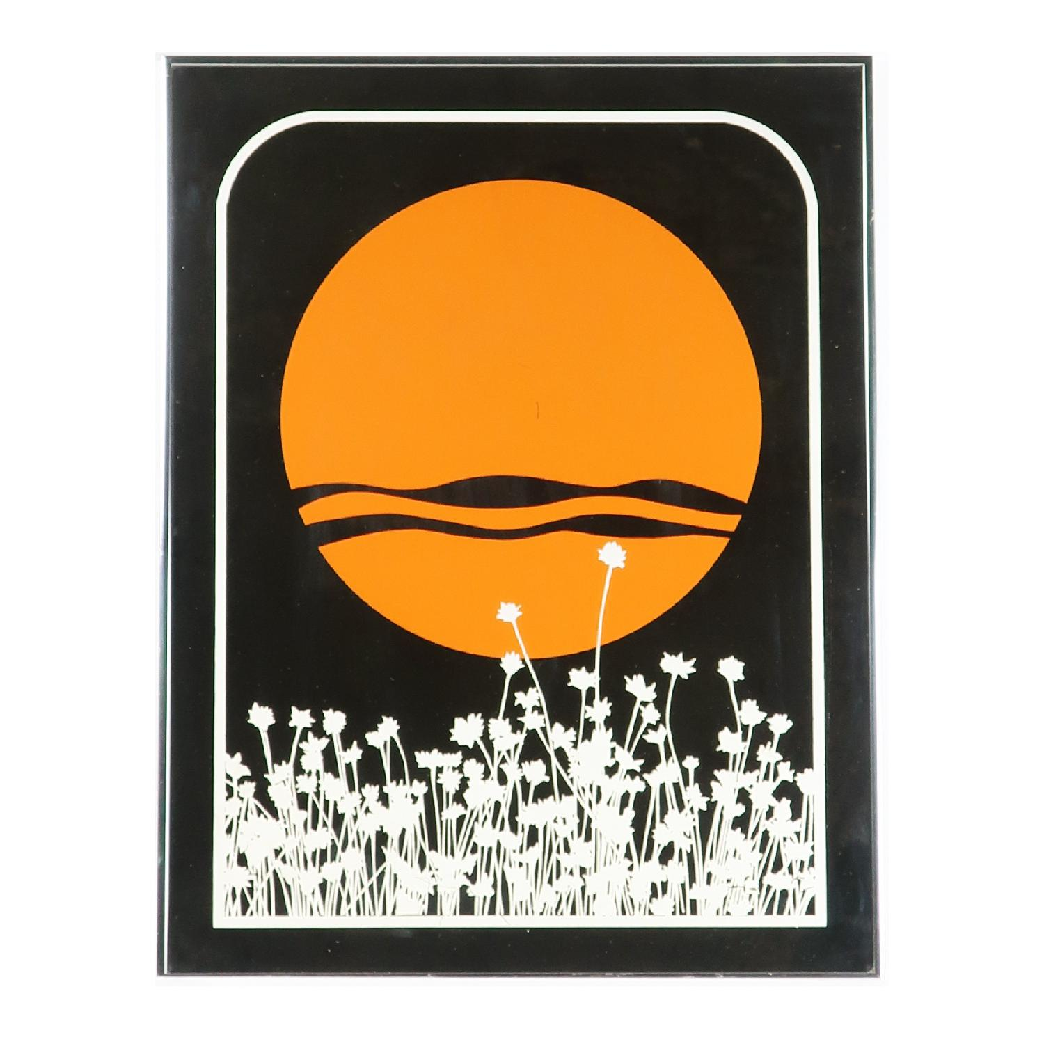1970s Vintage Painted Mirror by Jim Rosloff for Academy Arts