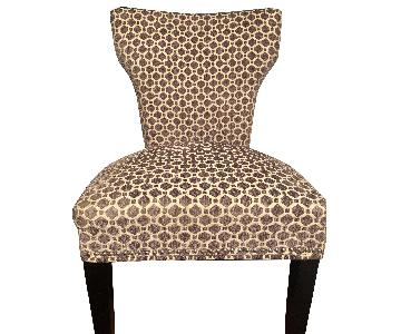 Patterned Grey Nailhead Dining Room Chair