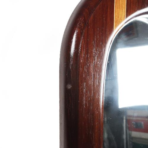 Used Signed Laminated Wood Wall Mirror Shelf for sale on AptDeco