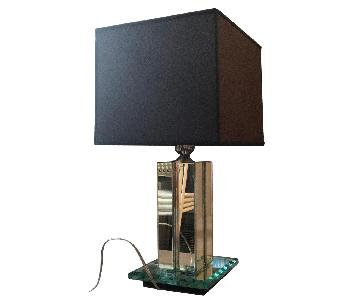 Mid Century Modern Mirrored Table Lamps