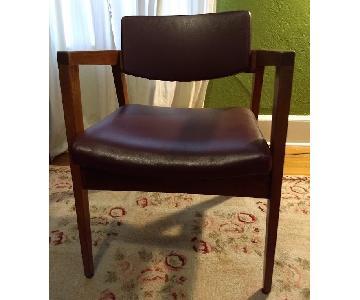 Gunlocke Vintage Walnut Arm Chairs