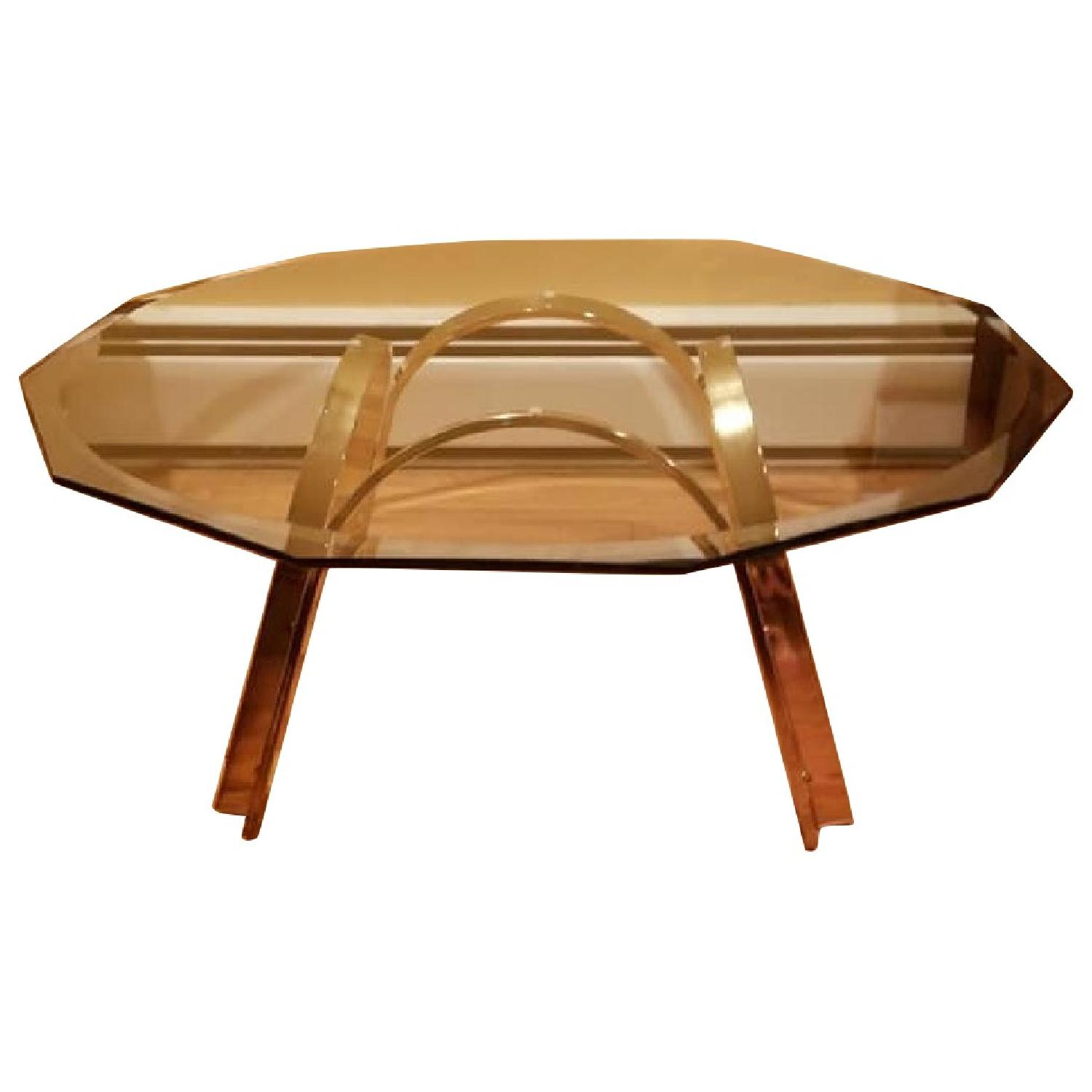 Glass & Brass Coffee Table