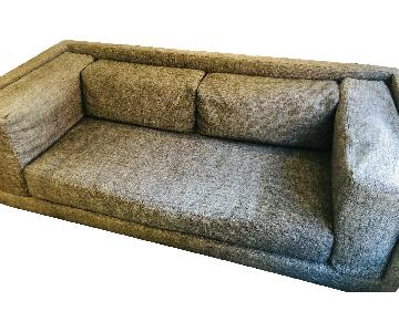 CB2 Grey Sleeper Sofa