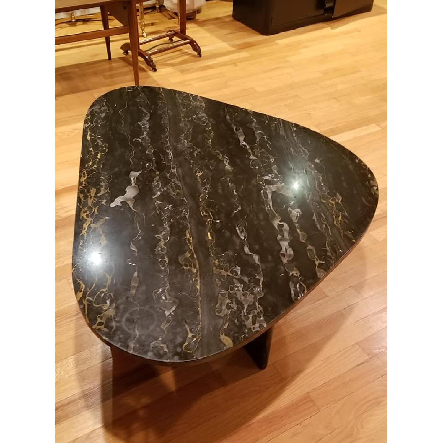 Vintage Black & Gold Italian Marble Coffee Table