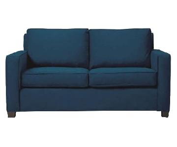 West Elm Henry Sofa in Navy Velvet