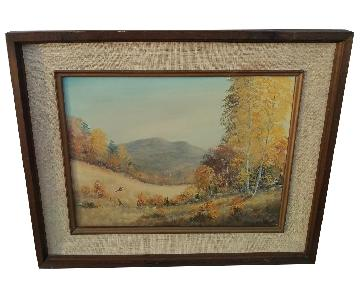 Loran Percy Days of Autumn Signed & Framed Oil on Canvas