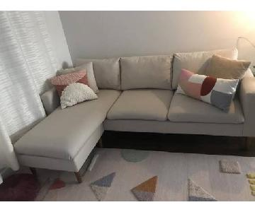 AllModern Beige Reversible Sectional Sofa