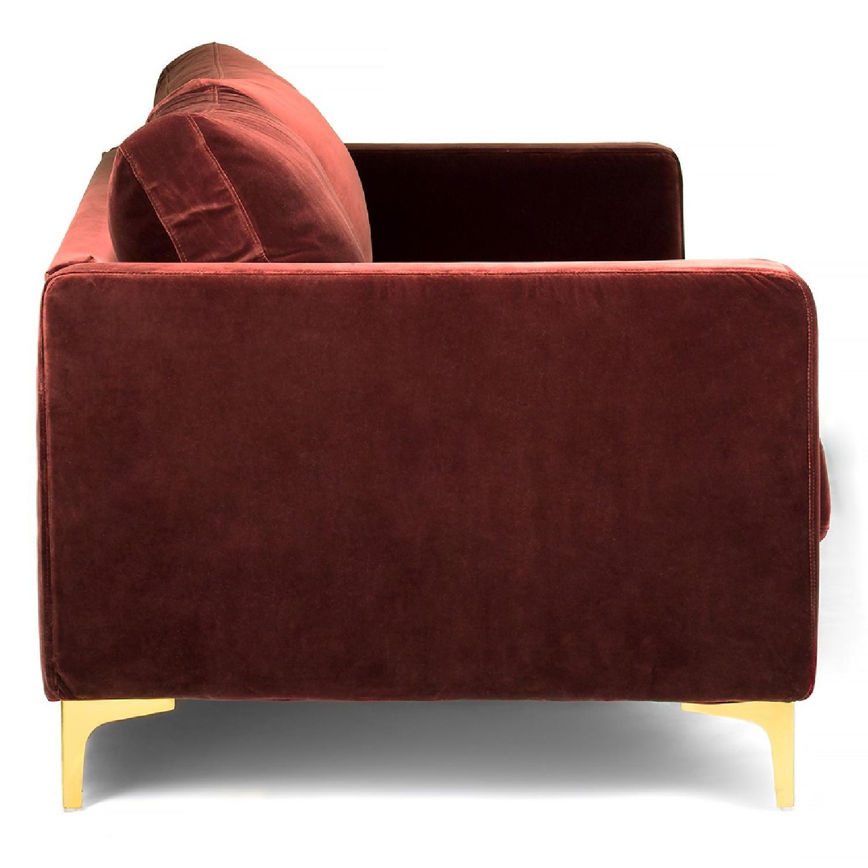 Brown Fabric Sofa-0