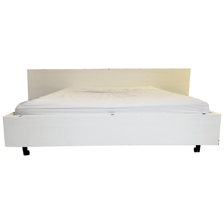 Modern White Wood Bed