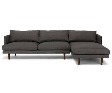 Article Burrard Graphite Gray Right Sectional Sofa