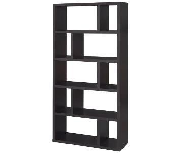 Coaster Fine Furniture Modern Bookcase in Espresso Finish