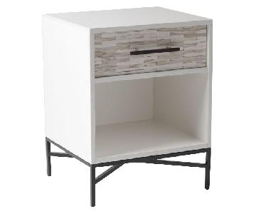 West Elm Wood Tiled Nightstand