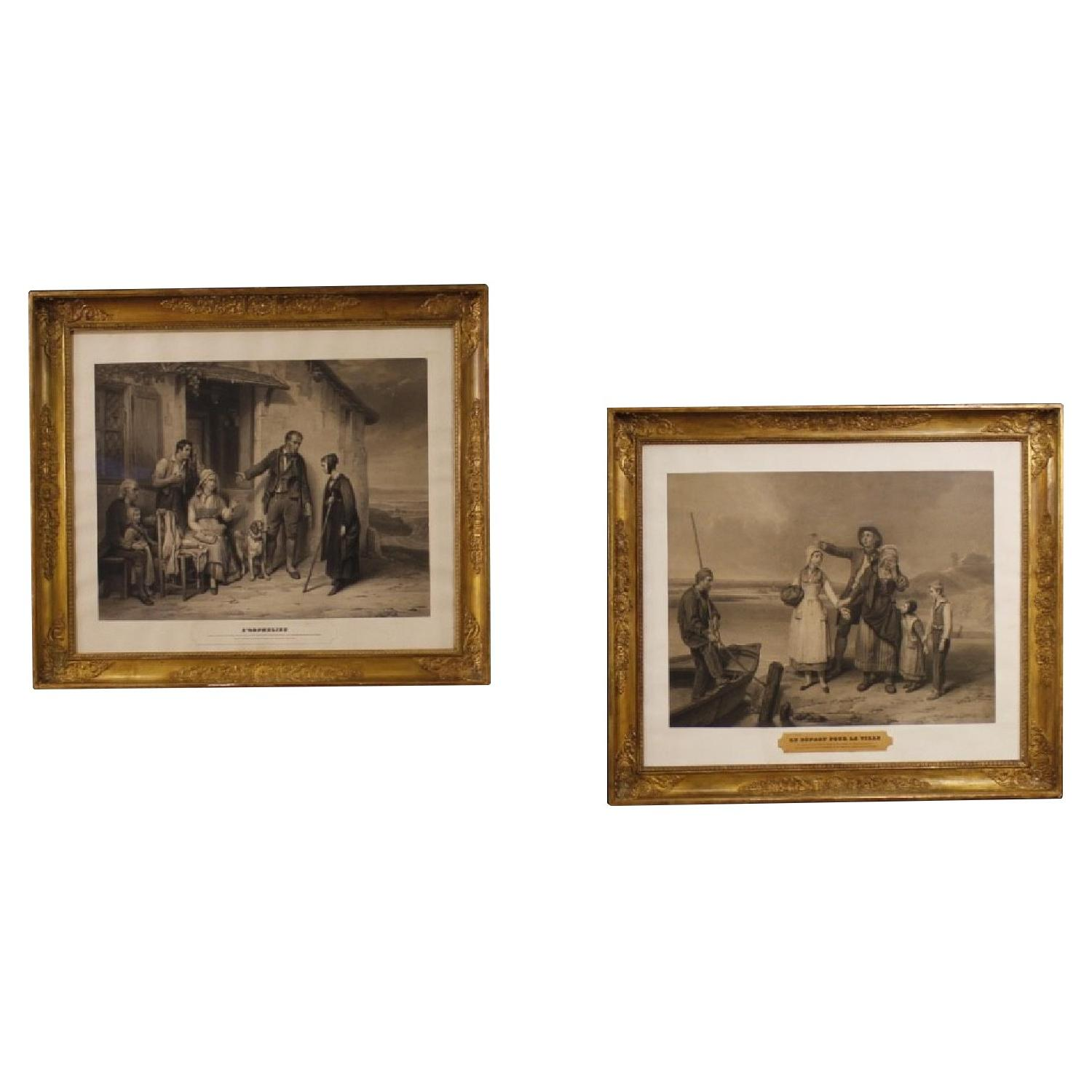 Antique 19th Century French Prints