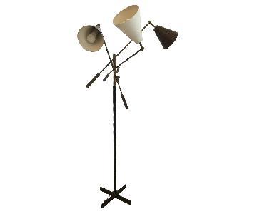 Vintage Three Arm Floor Lamp