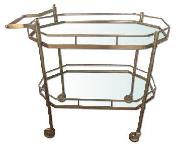 Vntage Brass/Gold Bar Cart