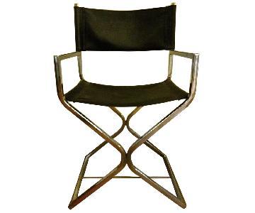 Chrome X Shape Leather Chair