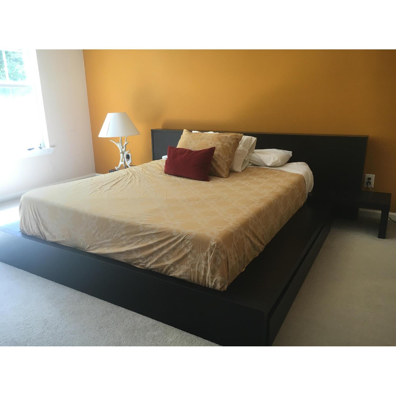 BoConcept Black Wood Queen Size Bedroom Set