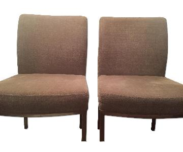 Crate & Barrel Taupe Microfiber Dining/Accent Chair