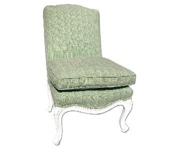 Children's Upholstered Slipper Chair w/ Down Pillow