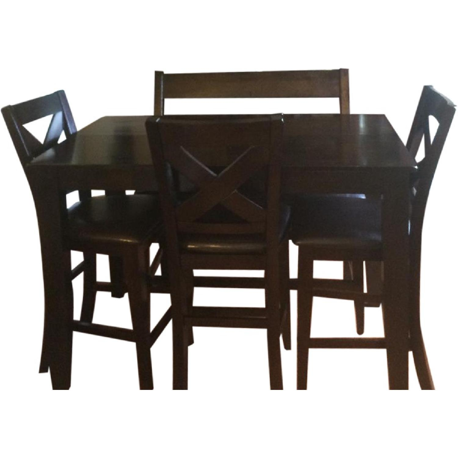 High Top Kitchen Table W 4 Chairs 1 Bench Aptdeco
