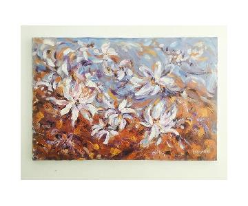 Expressionistic Impasto Floral Painting