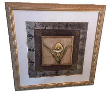 Signed Art w/ Gold Frame