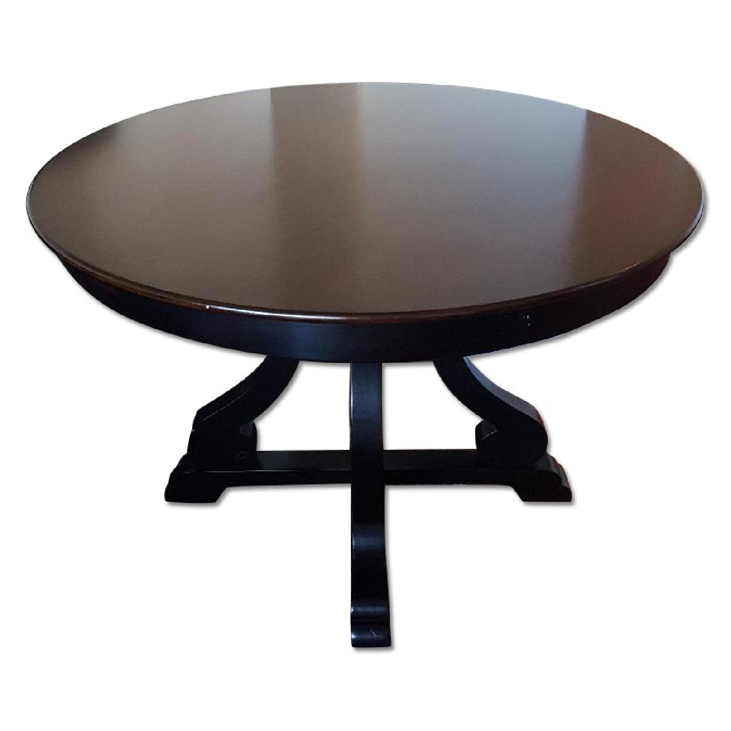 Pier 1 Round Kitchen Table w Metal Frame amp Glass Top  : 1500 1500 frame 0 from www.aptdeco.com size 1500 x 1500 jpeg 83kB