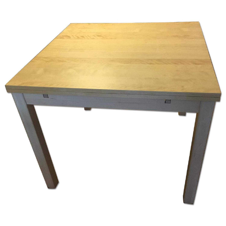 Ikea Bjursta Birch Veneer Extendable Dining Table Aptdeco