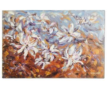 Impressionistic Impasto Floral Painting