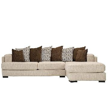 Raymour & Flanigan Urbanity 2-Piece Sectional Sofa