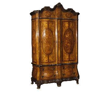 20th Century 1920 Inlaid Wood Dutch Wardrobe