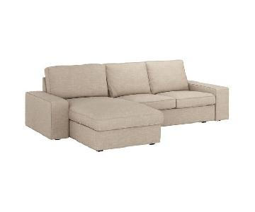 Ikea Kivik 2-Piece Sectional Sofa in Hillared Beige