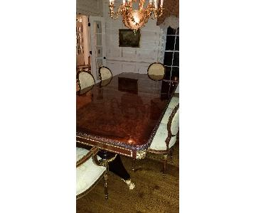 Girard-Emilia Traditional Mahogany Dining Table w/ 8 Chairs