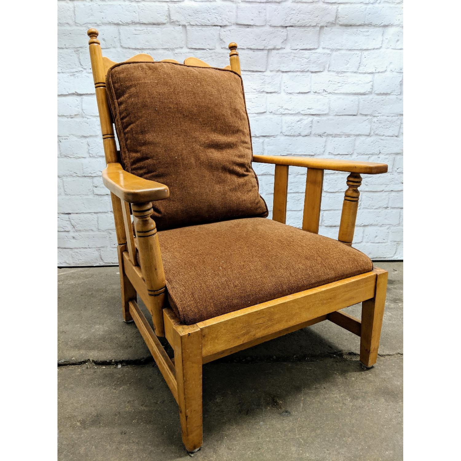 1970s Vintage L. & J. G. Stickley Cherry Valley Club Chair
