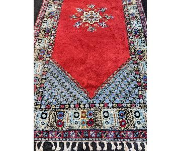 Vintage Persian Hand-Knotted Wool Rug